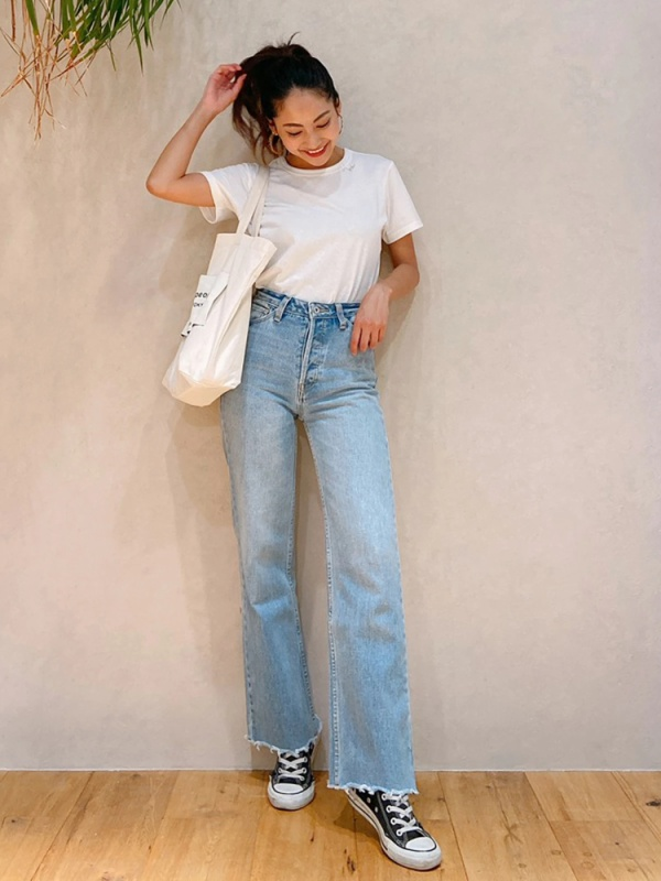 Vicente highwaist wide denim(ブリーチ)