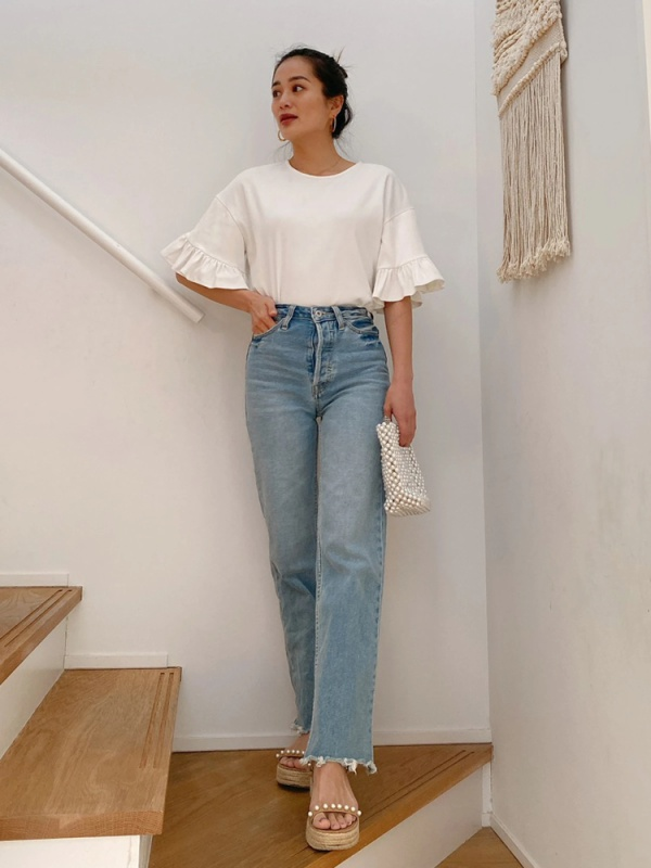 Vicente(ヴィセンテ) |Vicente highwaist wide denim