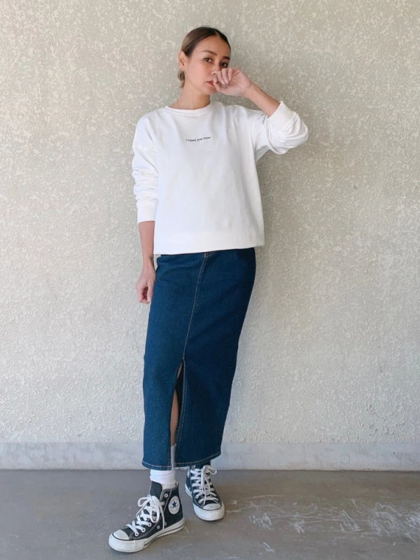 Vicente(ヴィセンテ) |Vicente denim long skirt