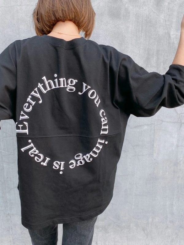 Everything is real long tee(ブラック)