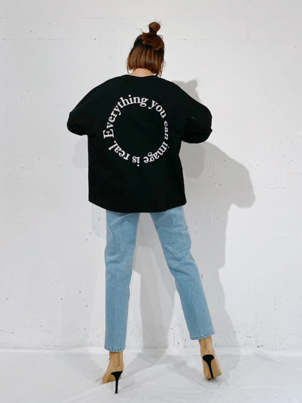 Vicente(ヴィセンテ) |Everything is real long tee(ブラック)
