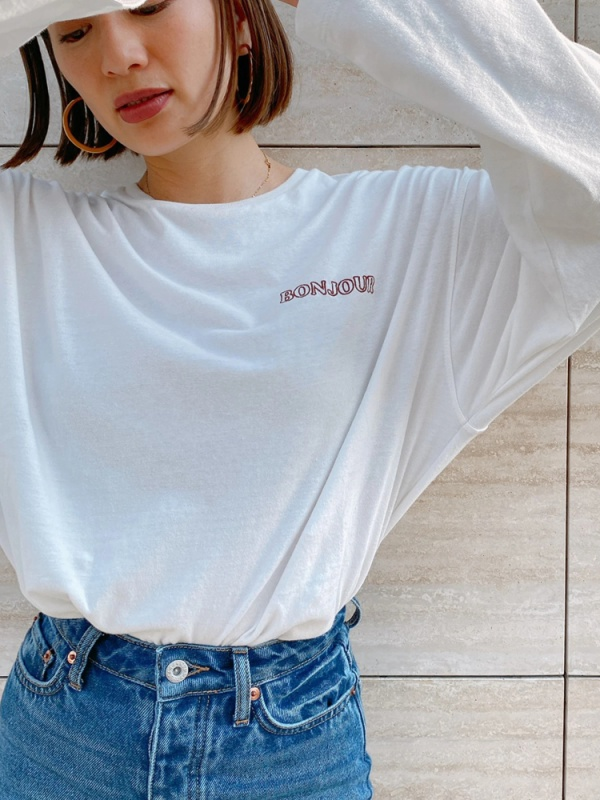 Vicente(ヴィセンテ) |Vicente×HONEY BONJOUR long tee(オフホワイト)