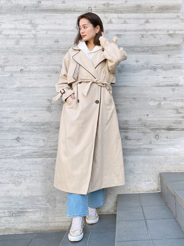 Vicente(ヴィセンテ) |Piping trench coat